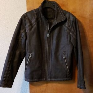 Men's Leather Jacket Roundtree and Yorke